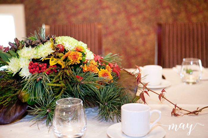 Floral design, autumn party, birthday  party, MAY: 60v syntymäpäivät Uppalan Kartanossa