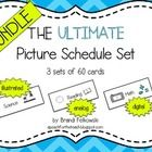 Picture Schedules -- Bundle of all three sets (analog, digital, and illustrated)  Picture schedules are a great way to ease transitions and reduce anxiety for all students, especially those with autism spectrum disorders and anxiety related disabilities. If you need a card that isn't included, the author will make one for you! A Peach for the Teach
