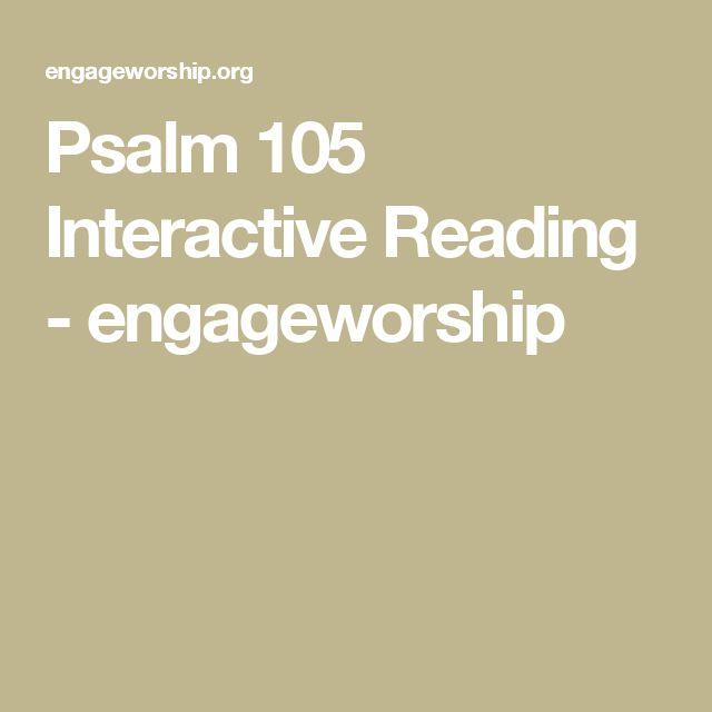 Psalm 105 Interactive Reading - engageworship
