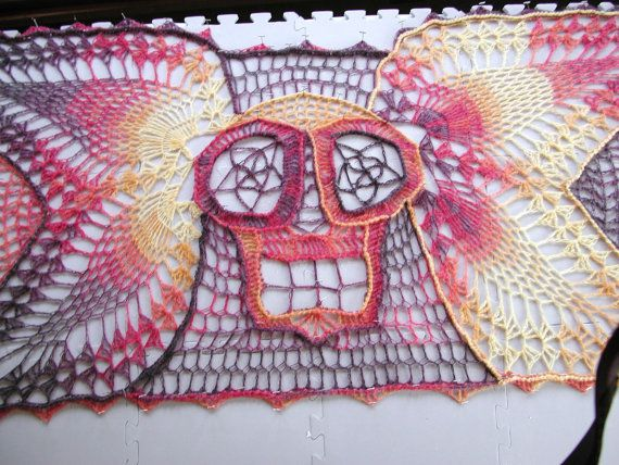 PDF  Heaven Sent An Angel Flying Skull Shawl by spidermambo, $1.00