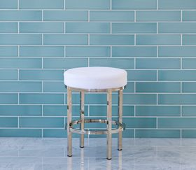 Rondelle Chrome Bathroom Vanity Stool Bathroom