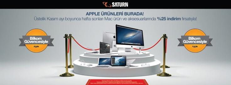 Apple Ürünleri Haftasonları Kasım Ayı Boyunca Satürn'de %25 İndirimli