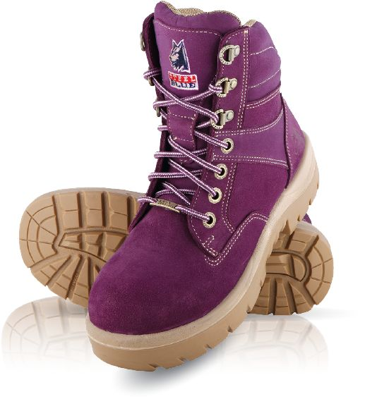 522760 Steel Blue Southern Cross Ladies Steel Cap Boots - Absolute Workwear