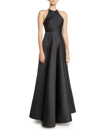 e2d5dfd263 Sleeveless+Halter+Double-Face+Satin+Evening+Gown++by+Jason+Wu+at+Bergdorf+ Goodman.