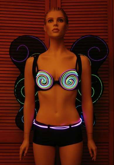 How to Make your Clothing Glow using Electroluminescent Wire  The creator of the EL Wire suits for Daft Punk has written a tutorial on exactly how to stitch the glowing wire into any clothing. Step by step instructions and close up pictures of Daft Punk gear help you along the way. EL Wire can be purchased fairly cheap and can be used to illuminate just about anything.