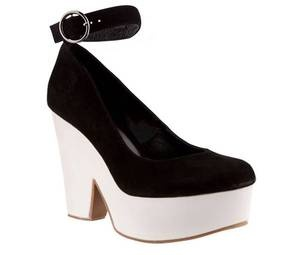 Mi Piaci - Porfido; black and white are an easy way to instant style plus with the ankle strap and platform sole these have a lot going for them. The strong Céline reference doesn't hurt either.