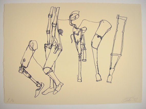 Quirky False Legs  Screenprint of an Original by ThePeahenPen, £12.00
