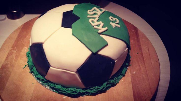 Football cake #footballcake #football #cake #foci #torta #focistorta
