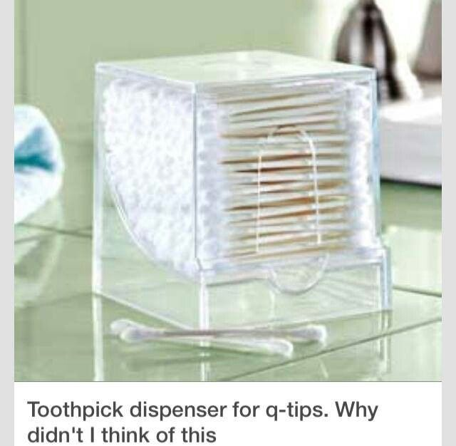 Great way to q tips great ideas pinterest for Bathroom storage ideas b q