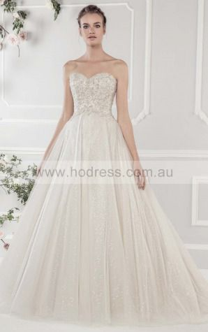 Buttons Chapel Train Ball Gown Natural Sweetheart Wedding Dresses hgcf1001