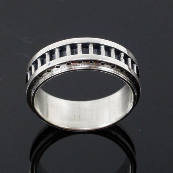 Men's Industrial Band  Sterling Silver by mooredesign13 on Etsy, $180.00