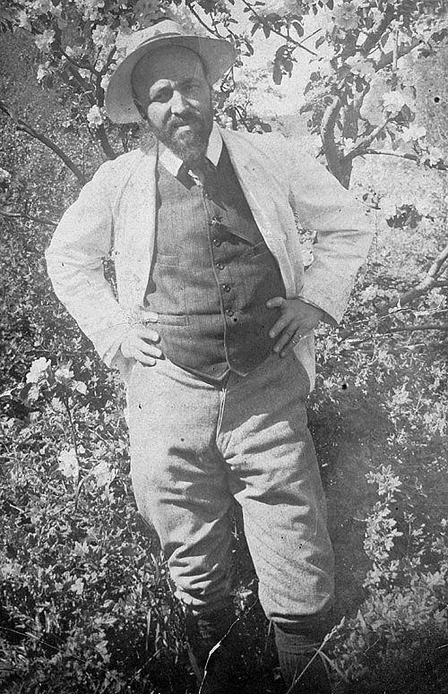 Hugo Simberg in his garden