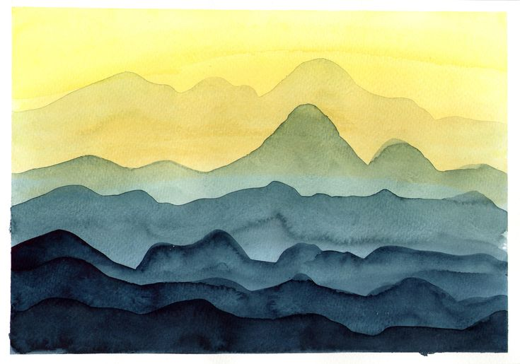 mountains / watercolor / layers | Mountains | Pinterest ...