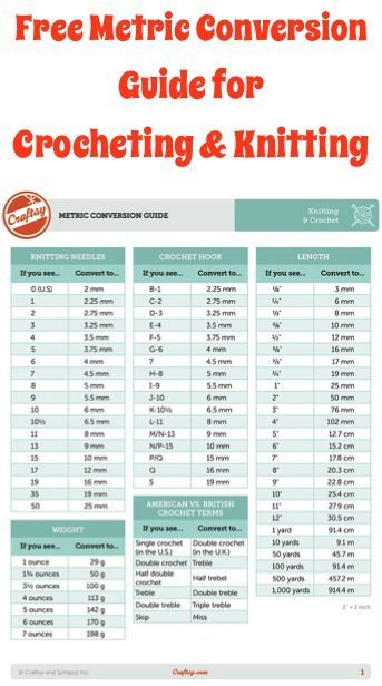 Knitting Pattern Conversion Chart : 17 Best images about Knitting on Pinterest Free pattern, Knit patterns and ...