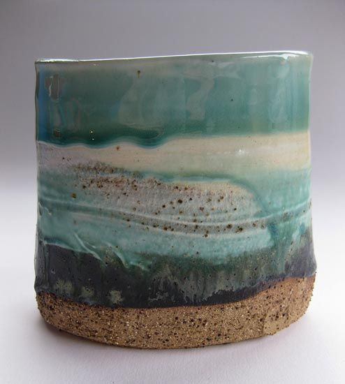 Ceramics by Jane McCulla at Studiopottery.co.uk - 2013. Harbour Rim Vessel series (2)
