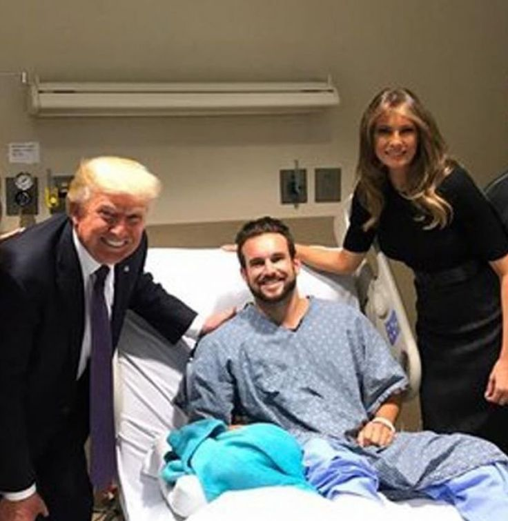 """Stood up for President Trump....... Twitter: """"I'll never lie down when @POTUS of this great country comes to shake my hand.""""  - Tom Gunderson, #VegasSurvivor"""