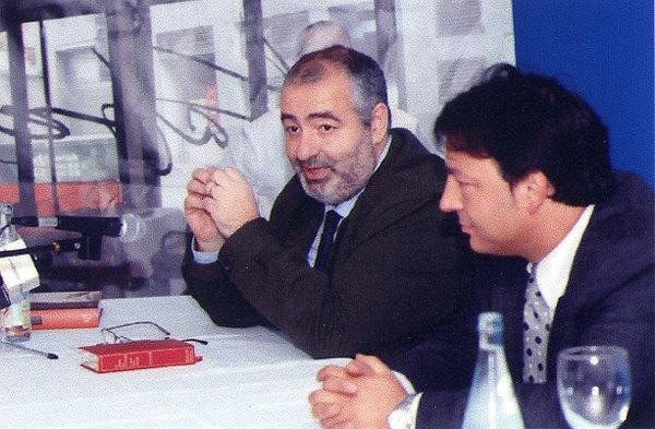 Con Santi Santamaría en una presentación