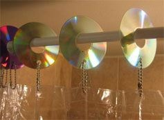 reciclar cd: Showers, Shower Curtain Rings, Reuse, Ideas Para, Shower Curtains, Diy, Old Cds, Cd Shower