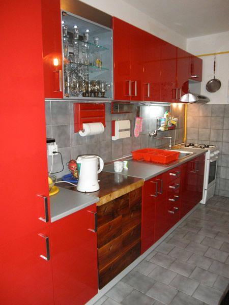 Kuchyňa červený lesk - BMV Kuchyne
