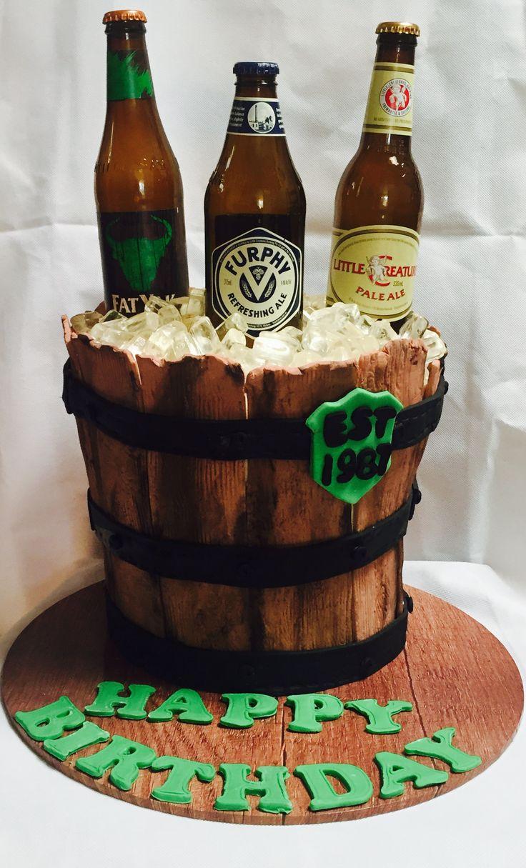 Beer barrel cake. 30th bday....