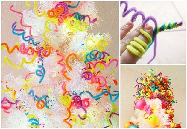 limpiador de tuberías Decoraciones del árbol | 28 Insanely Easy Christmas Decorations To Make In A Pinch