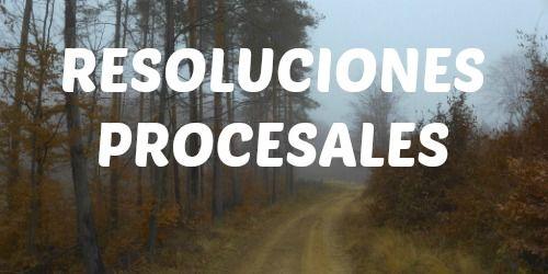 TIPOS DE RESOLUCIONES PROCESALES