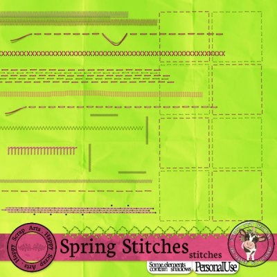 Spring Stitches Stitches [Happy Scrap Arts] - $1.95 : Moo Two Designs, The Udder way to Scrap!