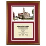 Loyola University Chicago Illinois Diploma Frame with Lithograph Art PrintBy Old School Diploma Frame Co.