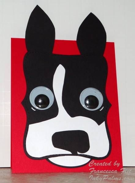 Inspired Boston Terrier - if I made this in brown, I think it would be a boxer!!