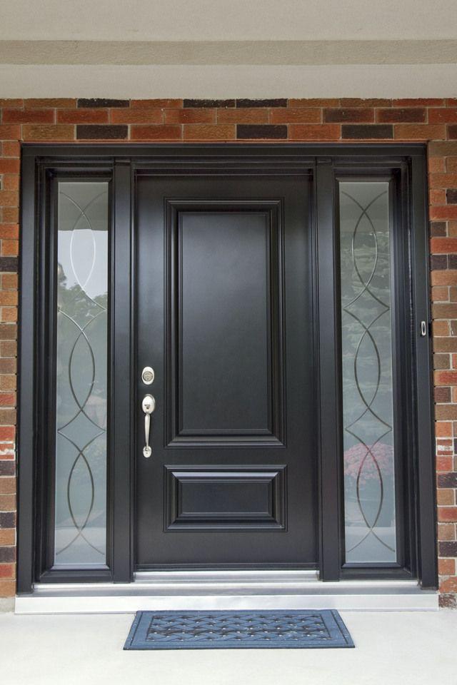 black Front Door #doors #shadesofblackpaintcolours