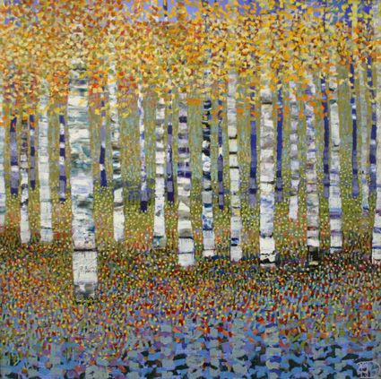Elysian Fields I, 45 x 45 cm   Love this artist's work!!