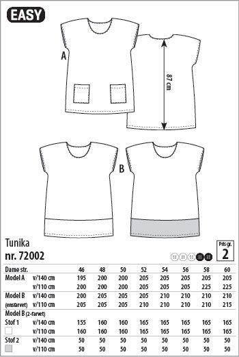 Tunika - 72002 - Stof & Stil
