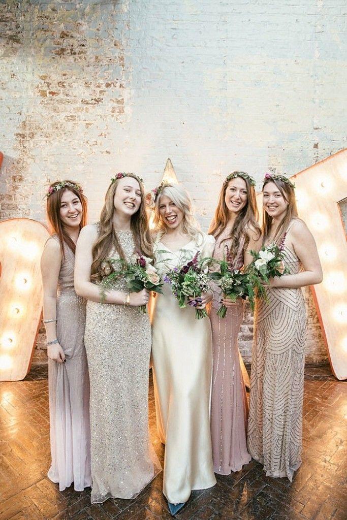 Photo Credit: Kat Hill | Cosy Romantic Urban Winter Warehouse Wedding by London Bride