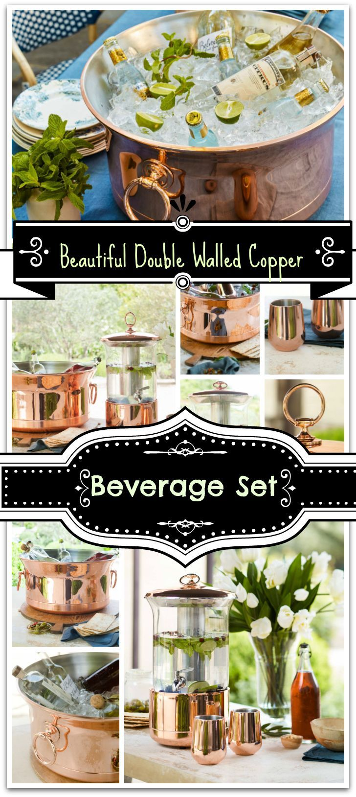 This a beautiful set perfect for any gathering. Would be beautiful at a wedding! #wedding #ad #eventplanning #partysupplies #copper