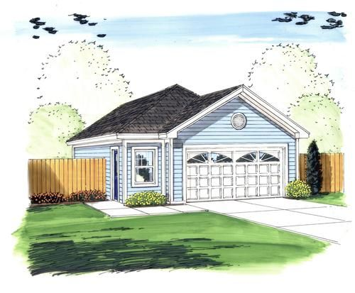 26 W X 40 L X 9 H 2 Car Garage With Offset Entry At Menards House Ideas For Spring Street And