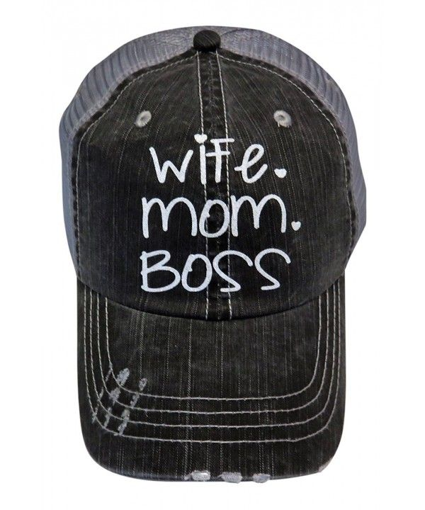Wife Mom Boss Unisex Denim Baseball Cap Adjustable Snapback Hats