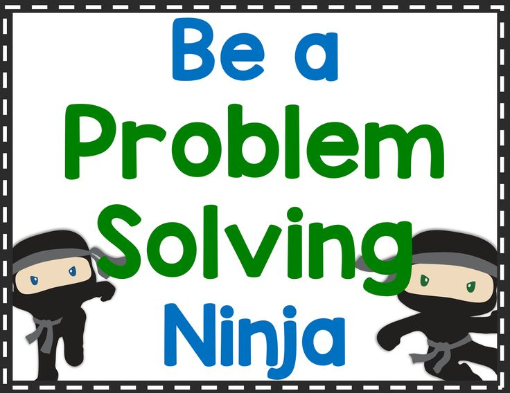 Problem solving strategy posters for word problems with a ninja theme to help students attack the story problem.