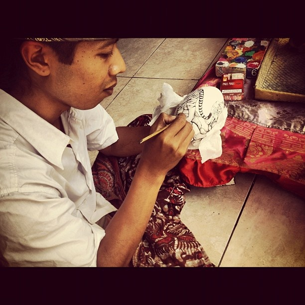 Great artist in Sindhu Beach @Sanur,Bali