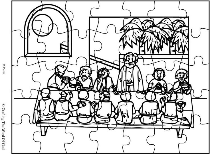lords supper coloring pages - photo#8