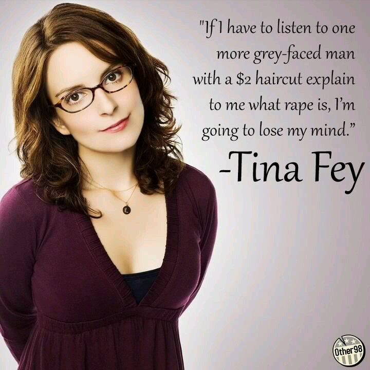 Thank you Tina...Stop defining rape as anything but a crime.  A horrendous crime.