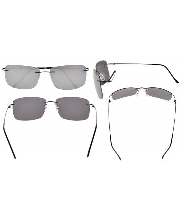 Titanium Rimless Sunglasses With TAC Polarized Lens Women