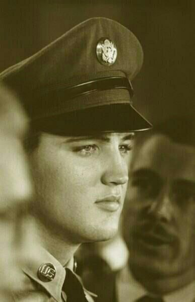 Private Elvis Presley - The man was beautiful.  Forget the word handsome - he was beyond handsome.
