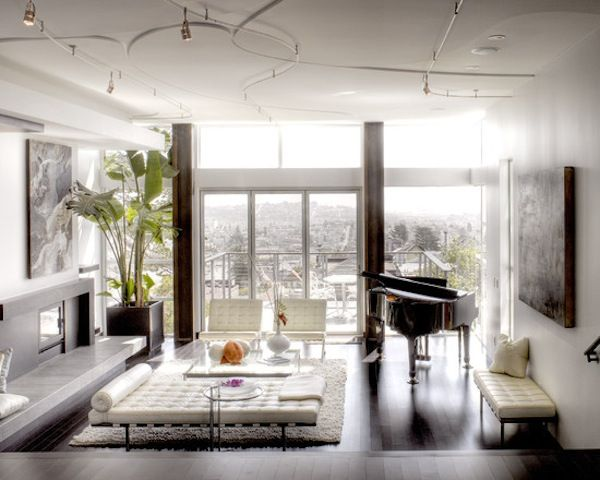 furniture for condo living. gorgeous condo design with barcelona chairs and daybed love the furniture for living