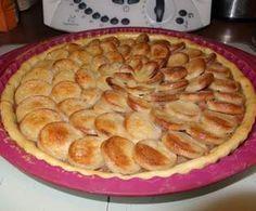 Recette Tarte au boudin blanc, compotée d'oignons et de pomme par DELPH37 - recette de la catégorie Tartes et tourtes salées, pizzas