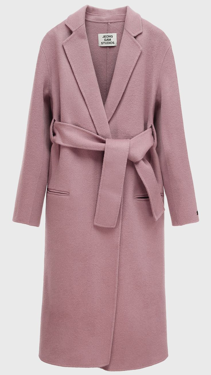 melton pink long wool coat - preorder – LOÉIL                                                                                                                                                                                 More
