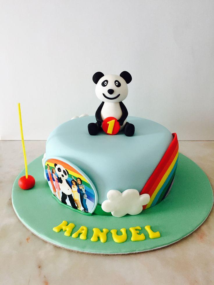 """Canal Panda Panda e os caricas Bolo 1"""" aniversario"""