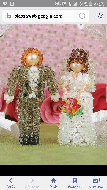 Just married 3d beads miçangas