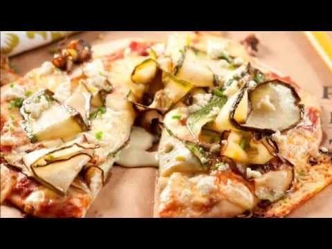 Pizza frita de Zucchini con queso de cabra.