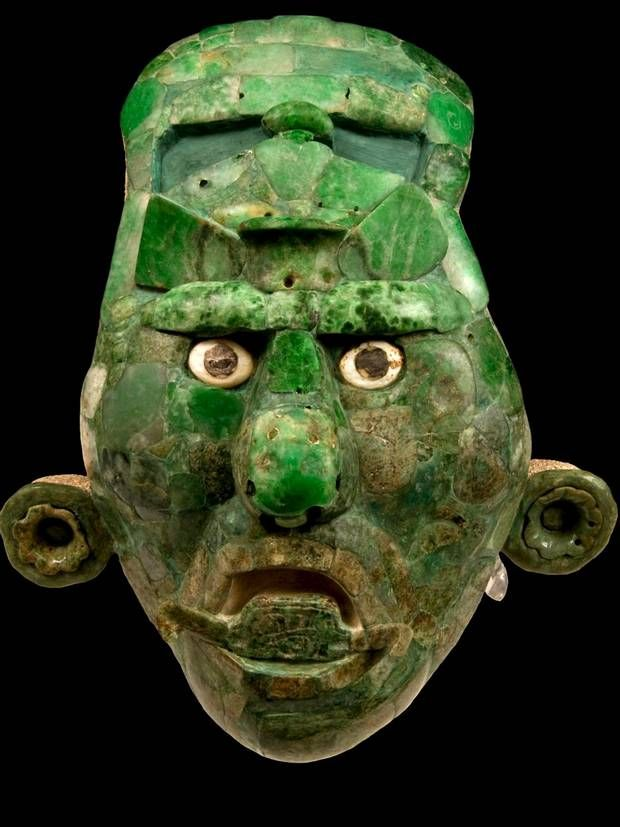 Jade mask from the classic period. Maya                              …