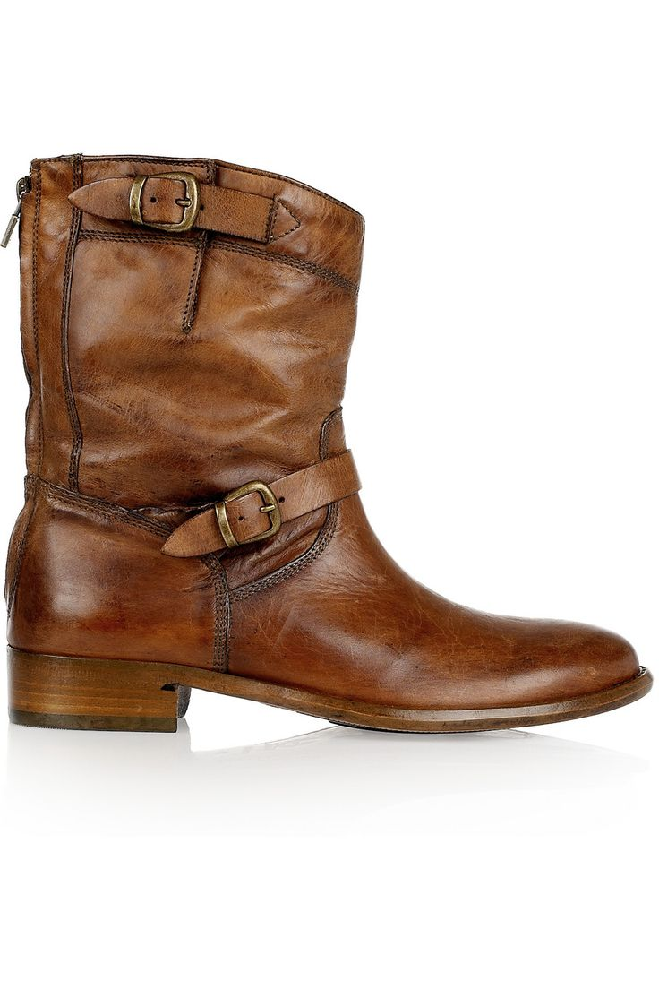 Belstaff  Barkmaster leather boots